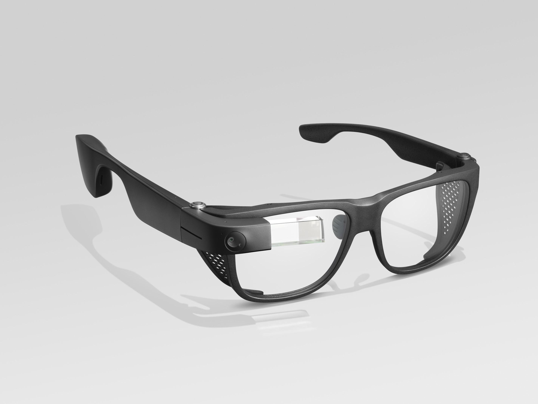 Google eyeglasses with black trim