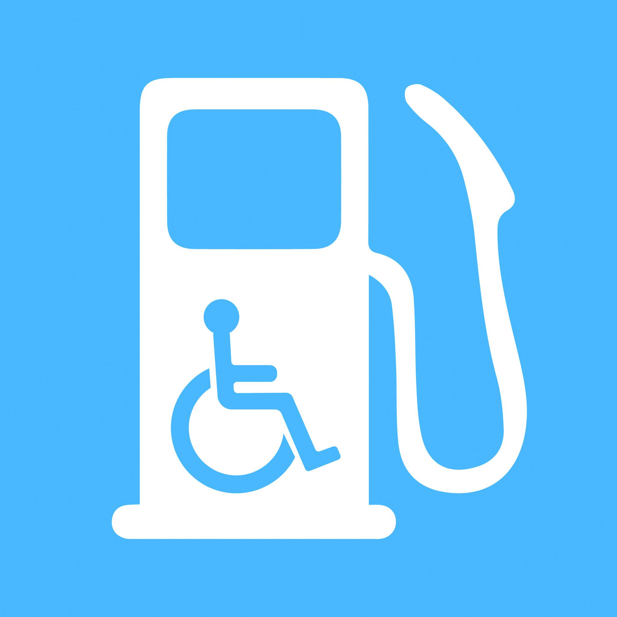 Accessible gas pump symbol