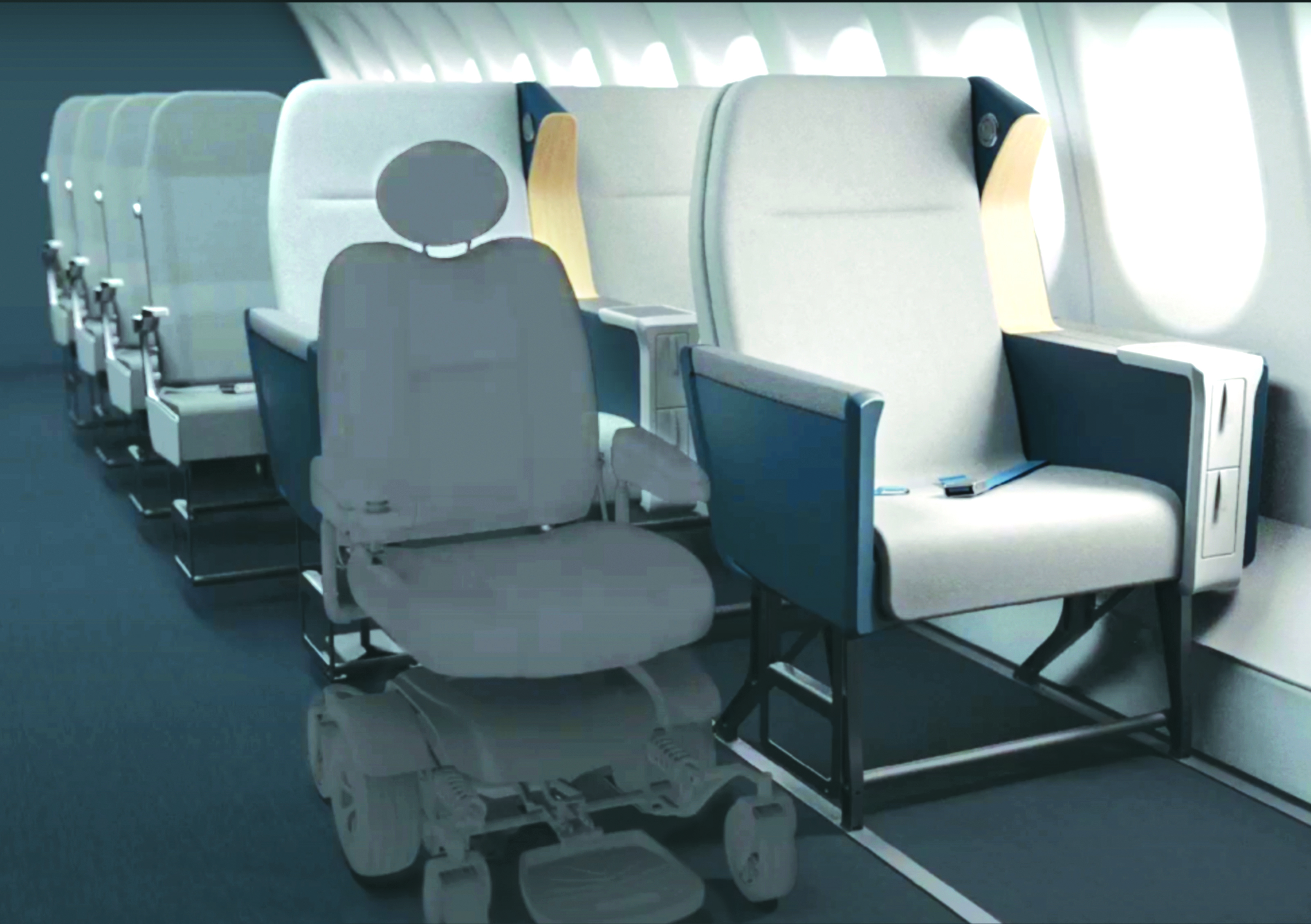 Plan seats with an empty spot for a wheelchair accessible spot